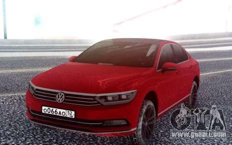 Volkswagen Passat B8 for GTA San Andreas