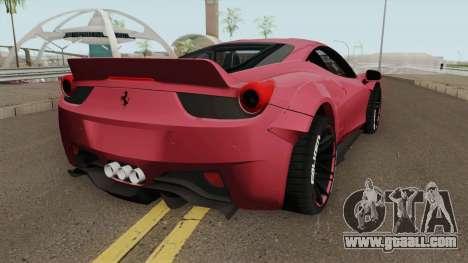 Ferrari 458 Liberty Walk for GTA San Andreas