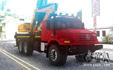 Mercedes-Benz Zetros Excavator for GTA San Andreas