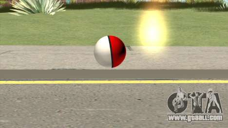 Poke Ball (Red) for GTA San Andreas
