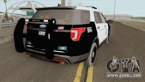 Ford Explorer Police Interceptor LAPD 2017 for GTA San Andreas