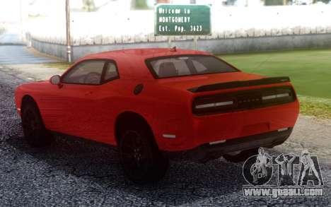 Dodge Hellcat Stock for GTA San Andreas