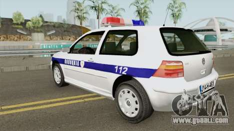Volkswagen Golf IV Policija Republike Srpske for GTA San Andreas