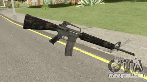 M16A2 Partial Forest Camo (Ext Mag) for GTA San Andreas