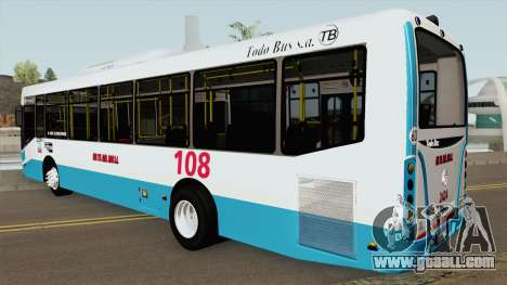 Todobus Pompeya II Agrale MT15 Linea 108 Interno for GTA San Andreas