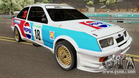 Ford Sierra RS Cosworth Pepsi Edition 1986 for GTA San Andreas