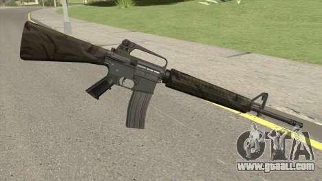 M16A2 Partial Jungle Camo (Ext Mag) for GTA San Andreas