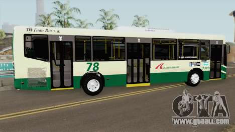 Todobus Pompeya II Agrale MT15 Linea 78 Interno for GTA San Andreas