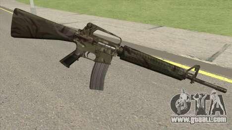 M16A2 Full Jungle Camo (Ext Mag) for GTA San Andreas