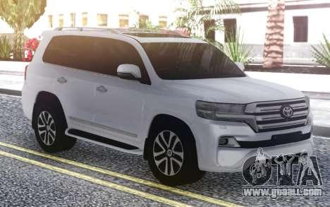 Toyota Land Cruiser 200 Sport 2018 for GTA San Andreas