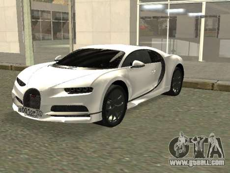 Bugatti Chiron Winter Edition for GTA San Andreas