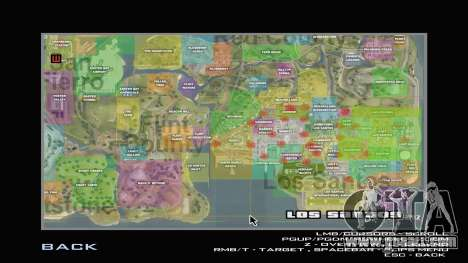 G-Soldier LSRP Detailed Map Radar for GTA San Andreas
