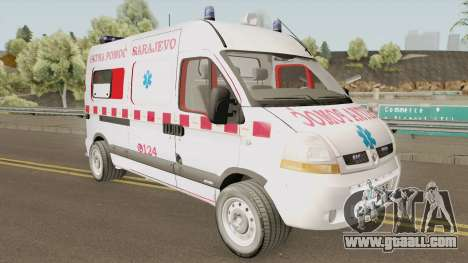 Renault Master Hitna Pomoc Ambulance Sarajevo for GTA San Andreas