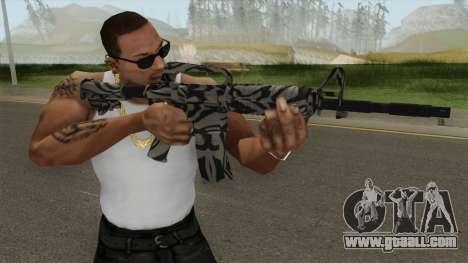 CS:GO M4A1 (Zebra Dark Skin) for GTA San Andreas