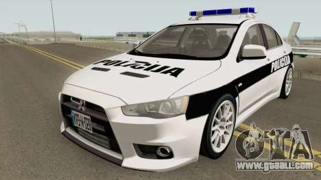 Mitsubishi Lancer Evolution X POLICIJA BiH for GTA San Andreas