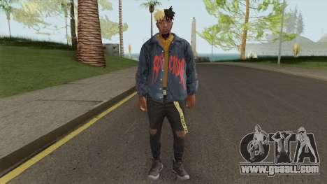 Skin Random 158 (Outfit XXXTentacion) for GTA San Andreas