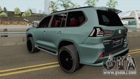 Lexus LX570 Black Edtion 2019 for GTA San Andreas