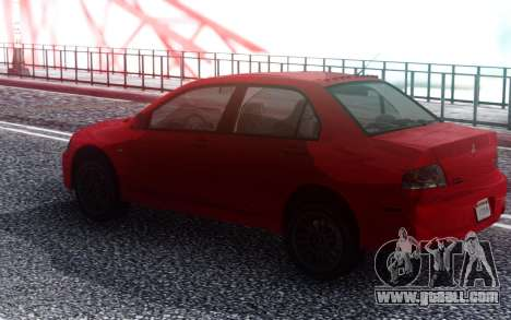 2006 Mitsubishi Lancer Evolution IX MR for GTA San Andreas