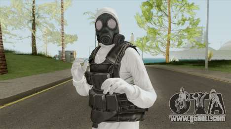 HazMat Skin White for GTA San Andreas