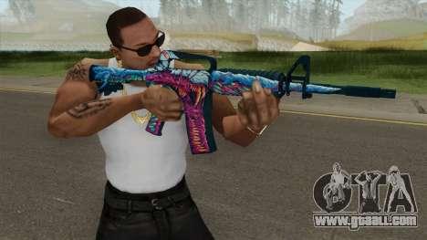 CS:GO M4A1 (Hyper Beast Skin) for GTA San Andreas