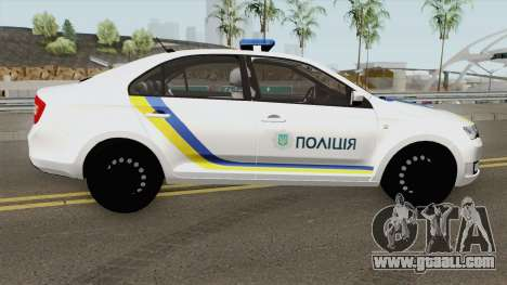 Skoda Rapid (Police Of Ukraine) for GTA San Andreas
