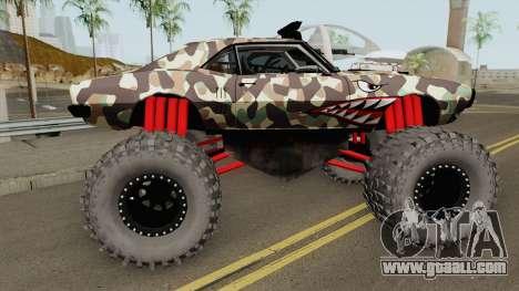 Pontiac Firebird Monster Truck Camo Shark 1968 for GTA San Andreas