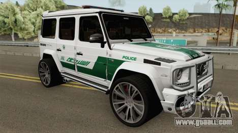 Mercedes-Benz G700 Brabus Widestar Dubai Police for GTA San Andreas