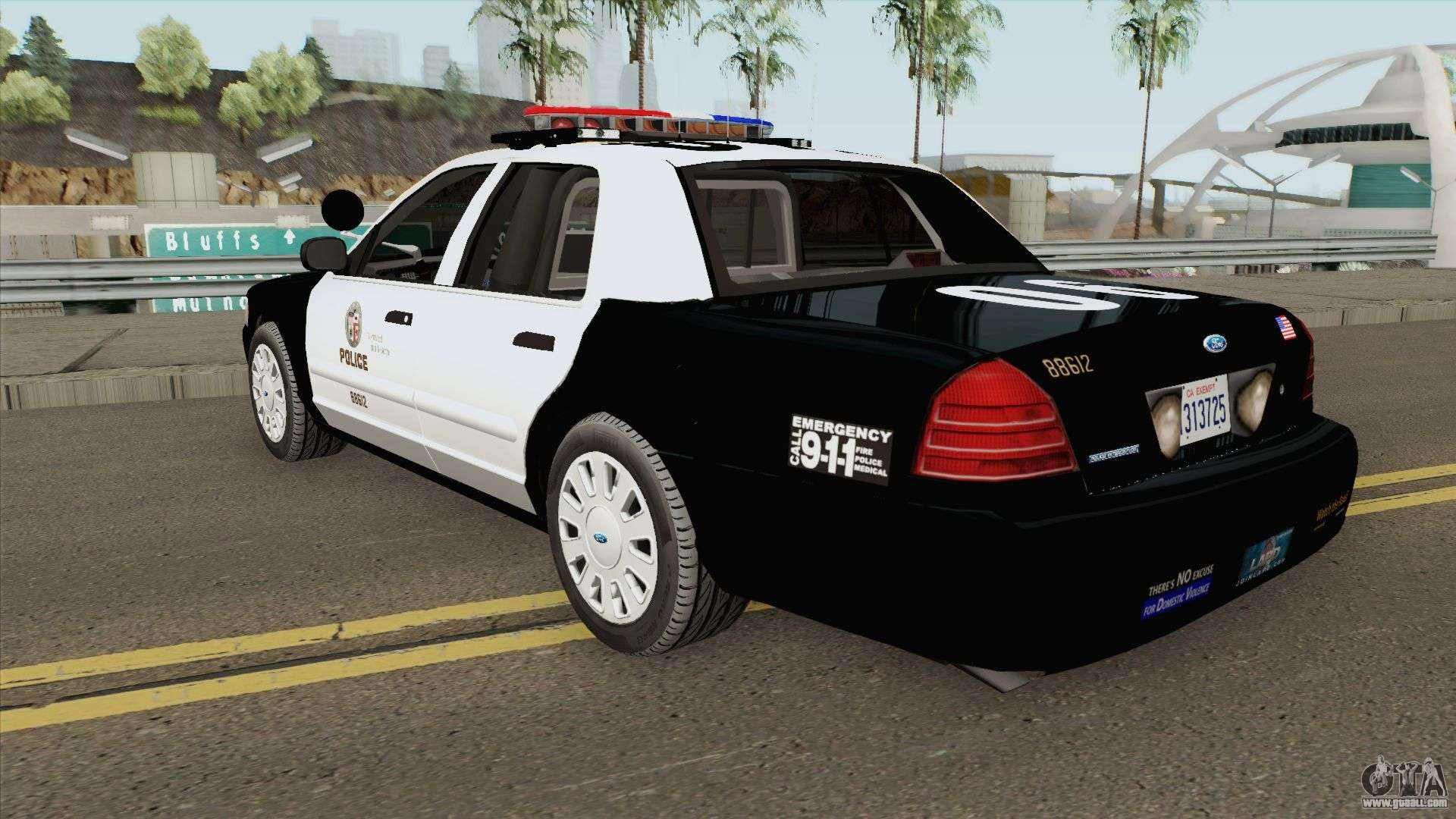 Ford Crown Victoria Police Interceptor Lapd 2011 For Gta