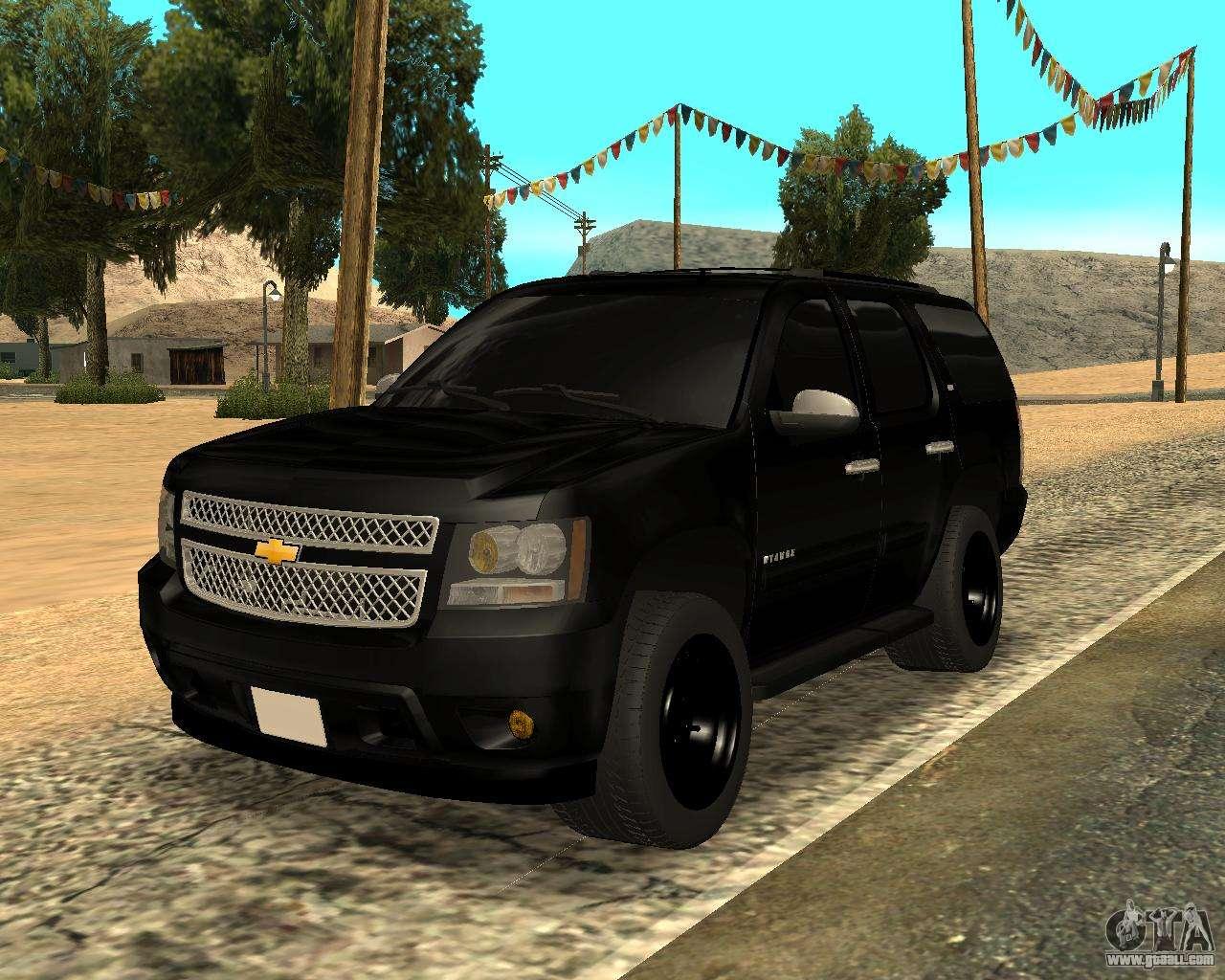 Chevrolet Tahoe Black For Gta San Andreas