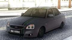 Lada Priora Grey Sedan for GTA San Andreas