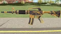 CS:GO M4A1 (Snakebite Gold Skin) for GTA San Andreas