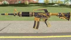 CS:GO M4A1 (Snakebite Gold Skin) for GTA San Andreas