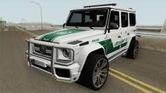 Mercedes-Benz G700 Brabus Widestar Dubai Police for GTA San Andreas