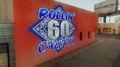 Rollin 60 Crips Mural for GTA San Andreas