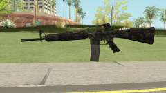 M16A2 Full Forest Camo (Ext Mag) for GTA San Andreas