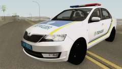 Skoda Rapid (Police Of Ukraine) for GTA San Andreas