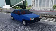 2109 Blue Hatchback for GTA San Andreas