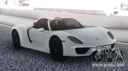 Porsche 918 Spyder White for GTA San Andreas
