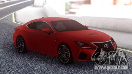 Lexus RC F Red for GTA San Andreas