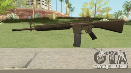 M16A2 Full Desert Camo (Ext Mag) for GTA San Andreas