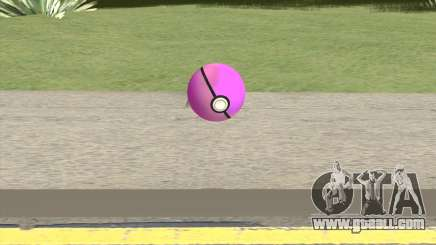 Poke Ball (Pink) for GTA San Andreas