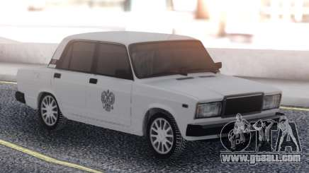 VAZ 2107 White Taxi for GTA San Andreas
