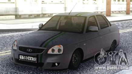 Lada Priora Grey Sedan for GTA San Andreas