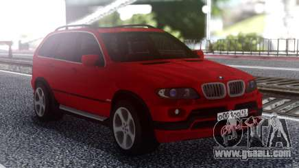BMW X5 Red for GTA San Andreas