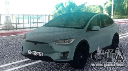 Tesla Model X Grey for GTA San Andreas