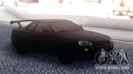 Nissan Skyline R34 GT-R Black for GTA San Andreas