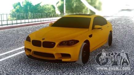 BMW M5 F10 Orange for GTA San Andreas