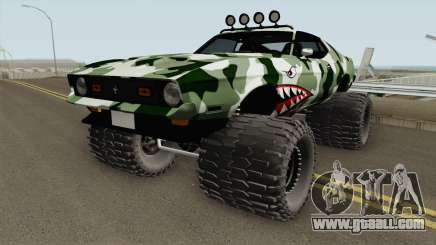 Ford Mustang Off Road Camo Shark 1971 for GTA San Andreas
