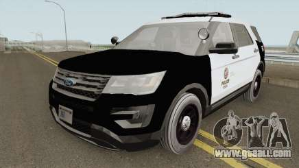 Ford Explorer Police Interceptor LAPD 2017 for GTA San Andreas