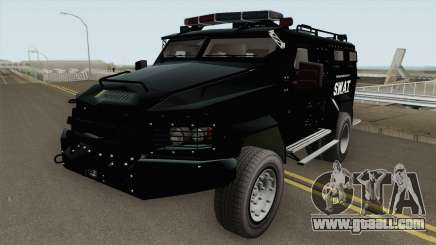 NFS MW 2012 SWAT Van IVF for GTA San Andreas